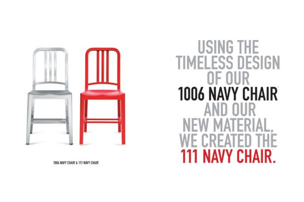 111 Navy Chair by Emeco