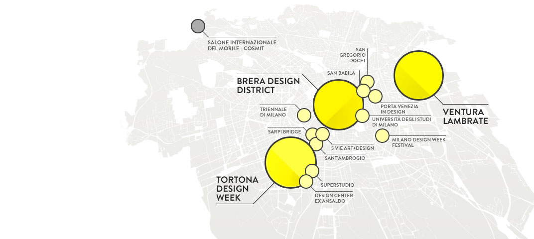 guida ai design districts della milan design week design