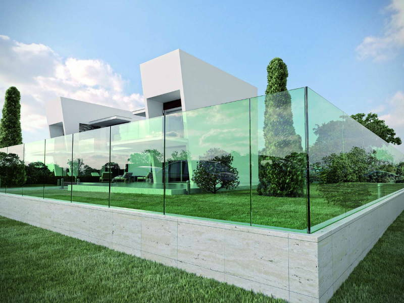 Protezioni trasparenti per scale terrazzi e recinzioni design street - Recinzione terrazzo ...