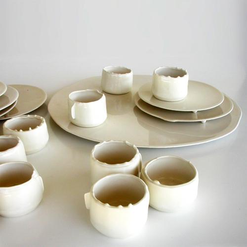 La ceramica fluida della collezione Via lattea di Arago Design