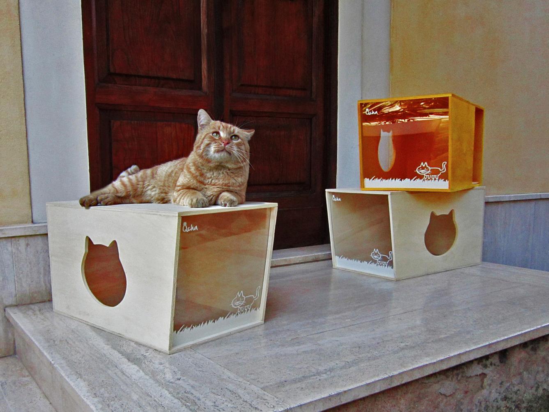 Qcha, la cuccia per gatti di design