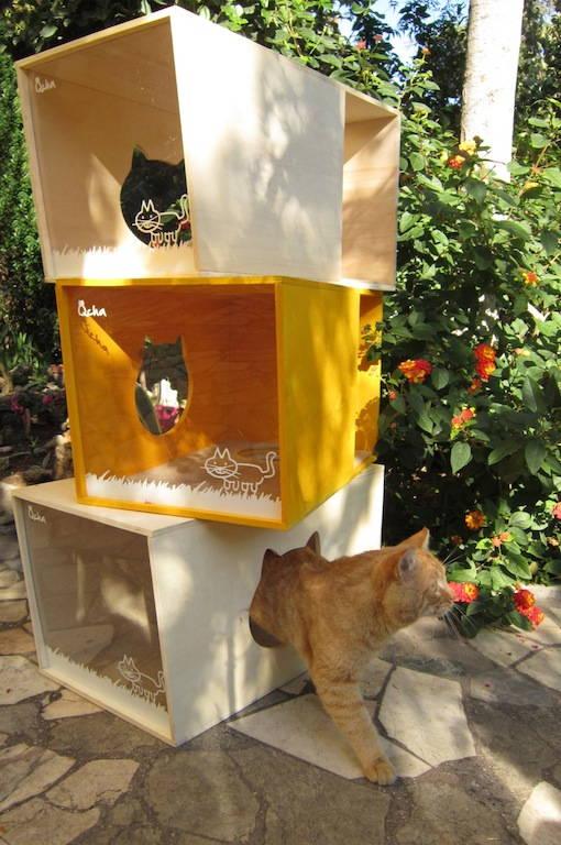 Qcha. La cuccia per gatti di design