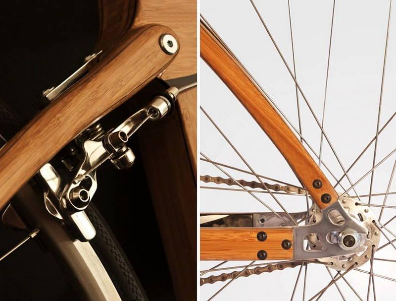 La bici in bambù e fibra di carbonio