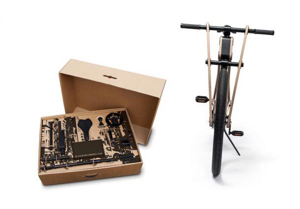 Sandwichbike, la bici in scatola
