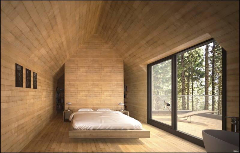Uno chalet con spa nei boschi del quebec design street for Bois de chambre bruxelles