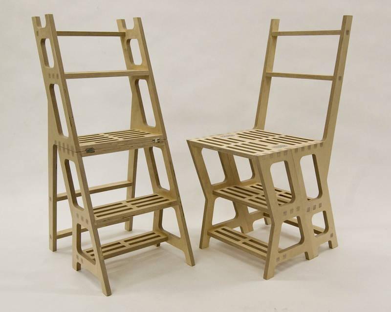 Library Chair. La sedia che diventa scaletta