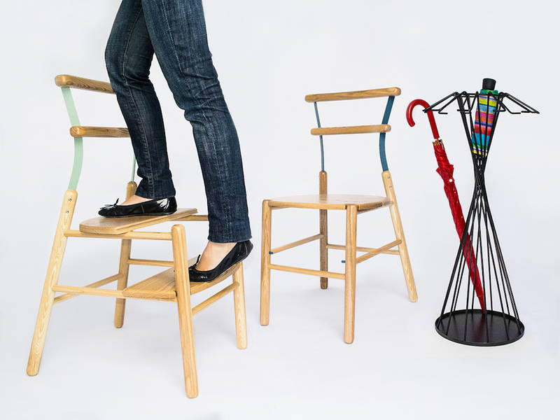 Suppergi la sedia che diventa scaletta design street for La sedia nel design