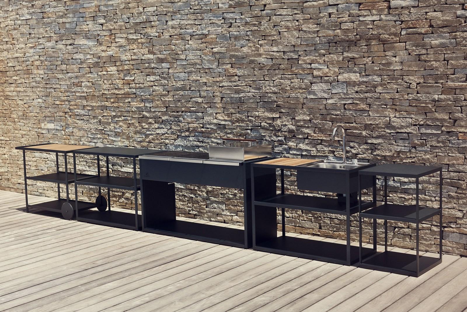 Roshults bbq la cucina dal design minimale per l 39 outdoor for Architecture minimale