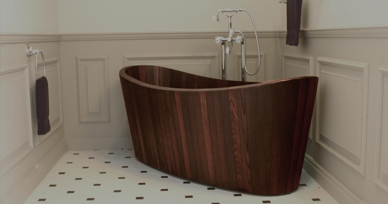 Khis bath tub la vasca da bagno in legno di ispirazione - Vasca da bagno legno ...