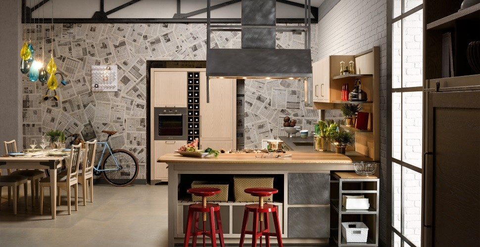 Come ricreare atmosfere industrial chic in cucina - Cucine l ottocento industrial chic ...