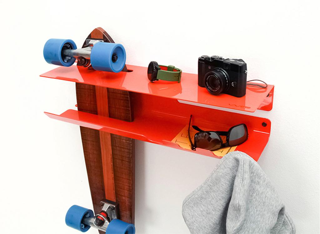 Porta Skateboard Da Muro.Quando Lo Skateboard Diventa Elemento D Arredo Design Street