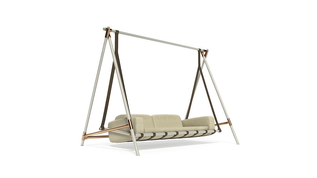 Fable swing, il divano a dondolo