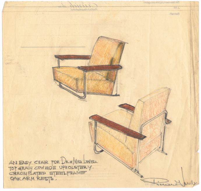Richard_Neutra_VS_Lovell_Easy_Chair_Steel_drawing
