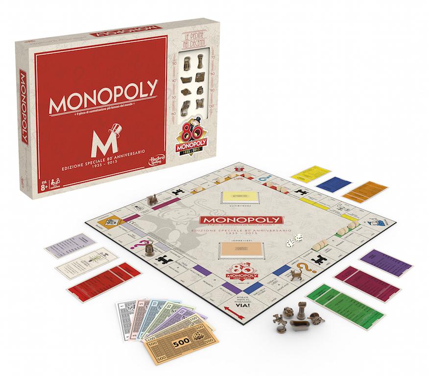 Edizione speciale e limitata_Monopoly 80¯ Anniversario