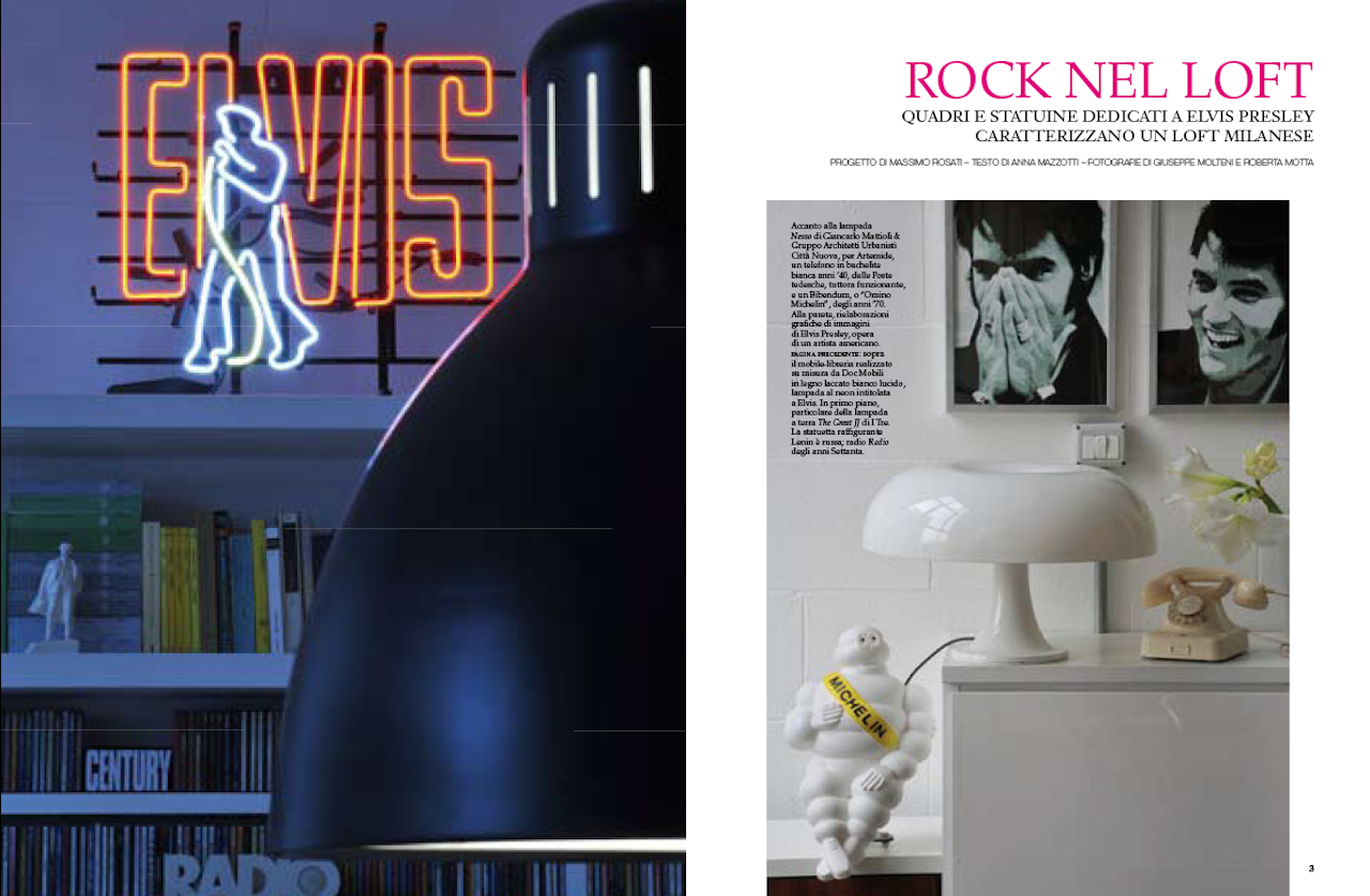 Elvis Memorabilia a Milano AD - Architectural Digest