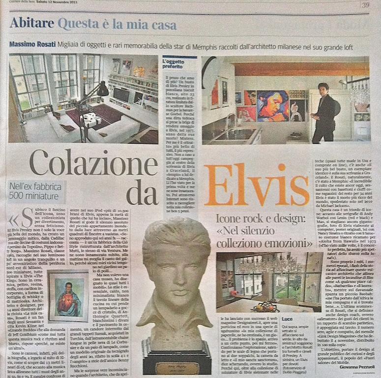 Elvis Memorabilia a Milano. Corriere della Sera