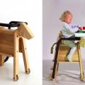 Play an Eat Saddle Seat permette ai bambini di salire in groppa grazie a una scaletta situata tra le zampe posteriori, aiutandosi (se serve) con i corrimano rivestiti in cuoio (accessori) oppure con la corda che funge da cosa di cavallo, e di sedersi comodamente a cavalcioni dell'animale.