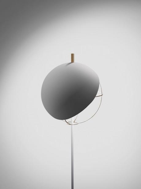 la lampada dal paralume magnetico in feltro