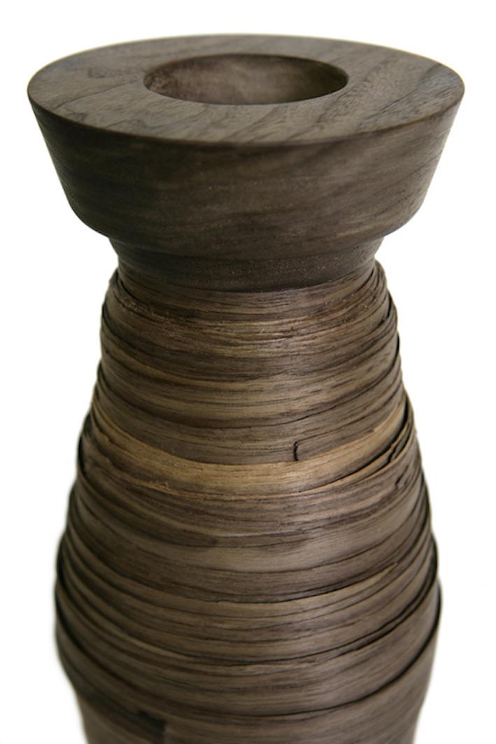 I vasi arrotolati fatti in legno