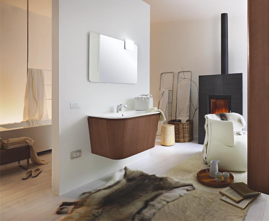 Lo stile scandinavo entra nella stanza da bagno