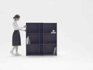 nendo nest shelf