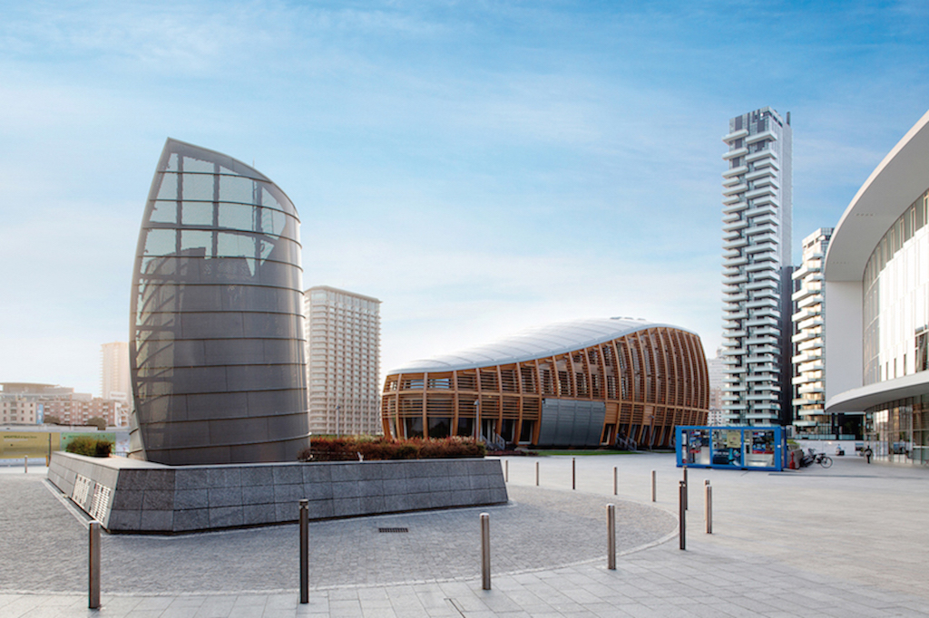Unicredit pavilion un seme a milano in legno e zinco titanio - Architetto porta ...