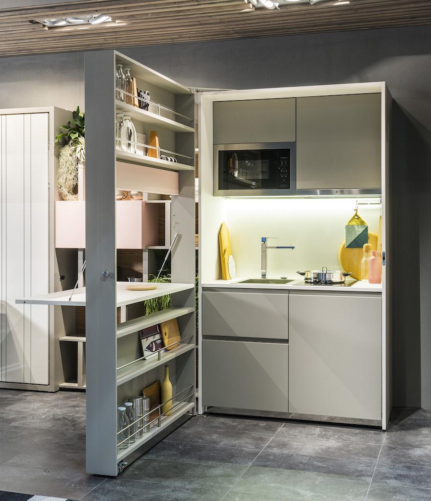 Cucine Per Piccoli Spazi.Kitchen Box La Cucina Monoblocco Per Piccoli Spazi