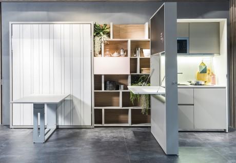 la cucina monoblocco Kitchen Box di Clei