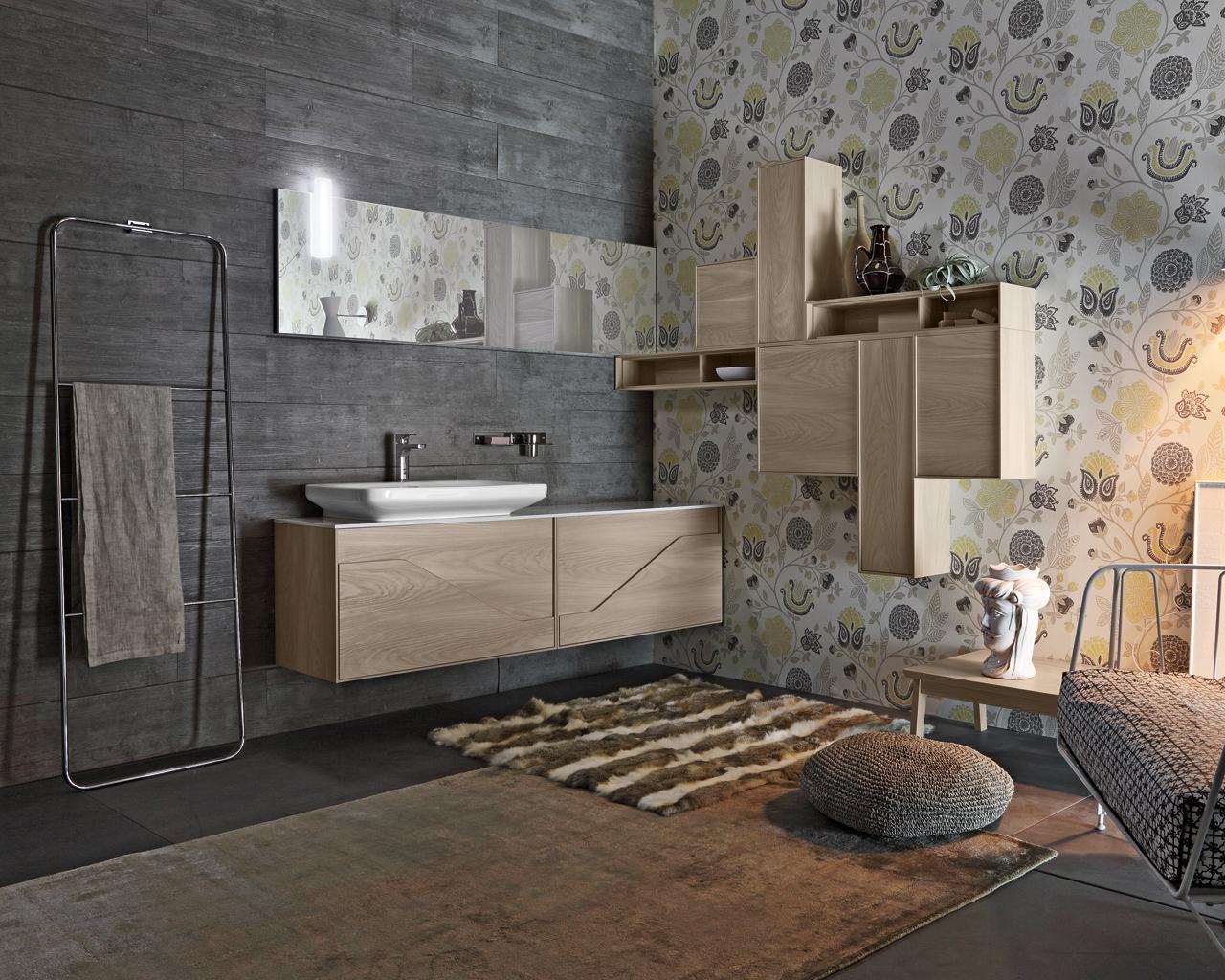 Una stanza da bagno vintage in stile anni 50 - Mobili bagno retro ...