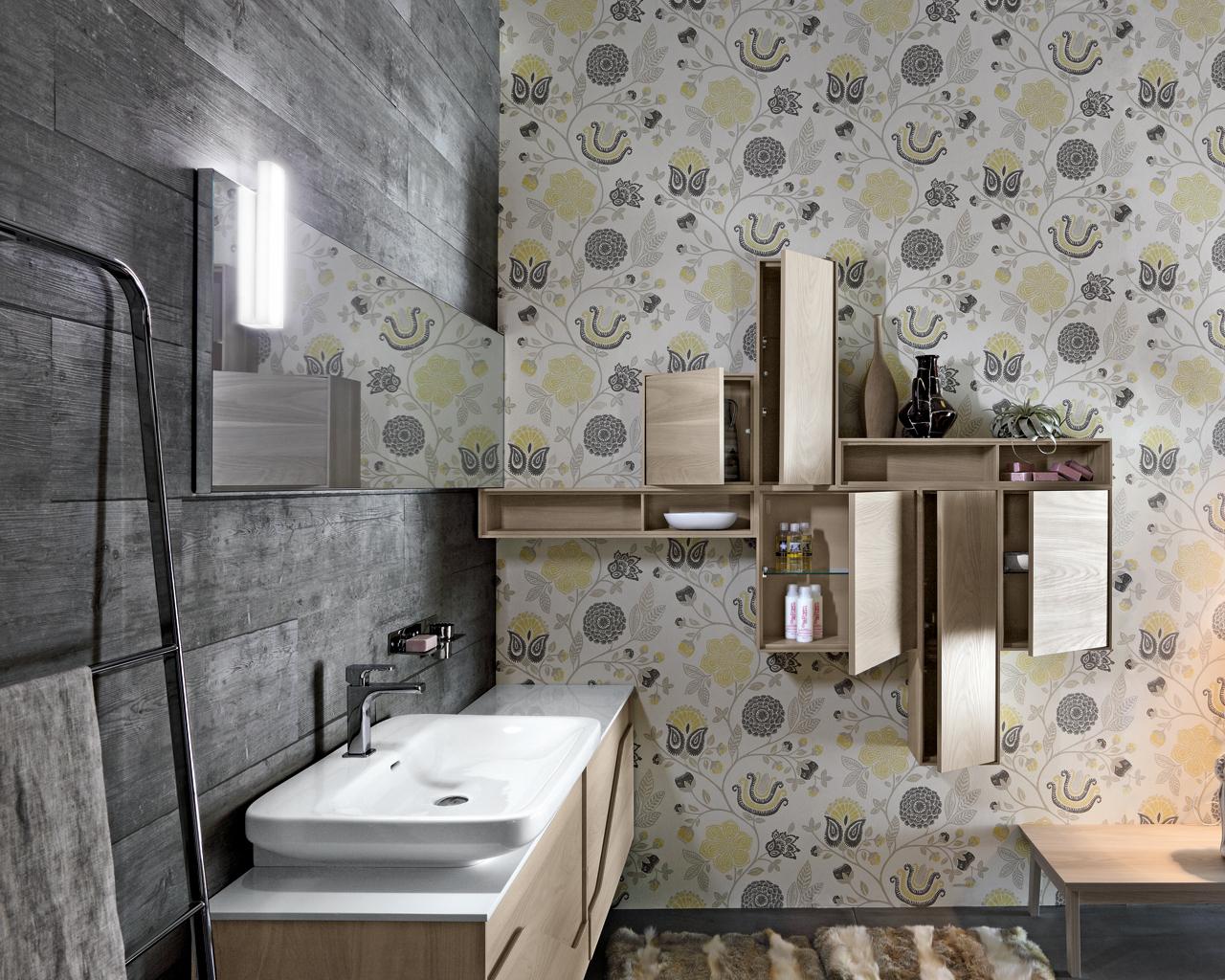 Una stanza da bagno vintage in stile anni 50 for Mobili bagno vintage