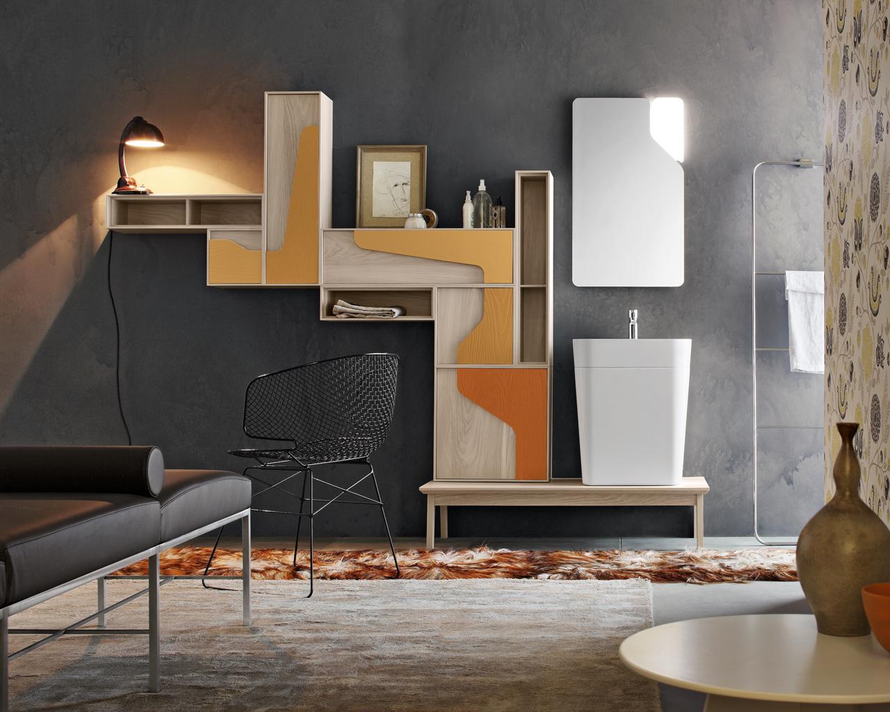Bagno Stile Naturale : Una stanza da bagno vintage in stile anni 50