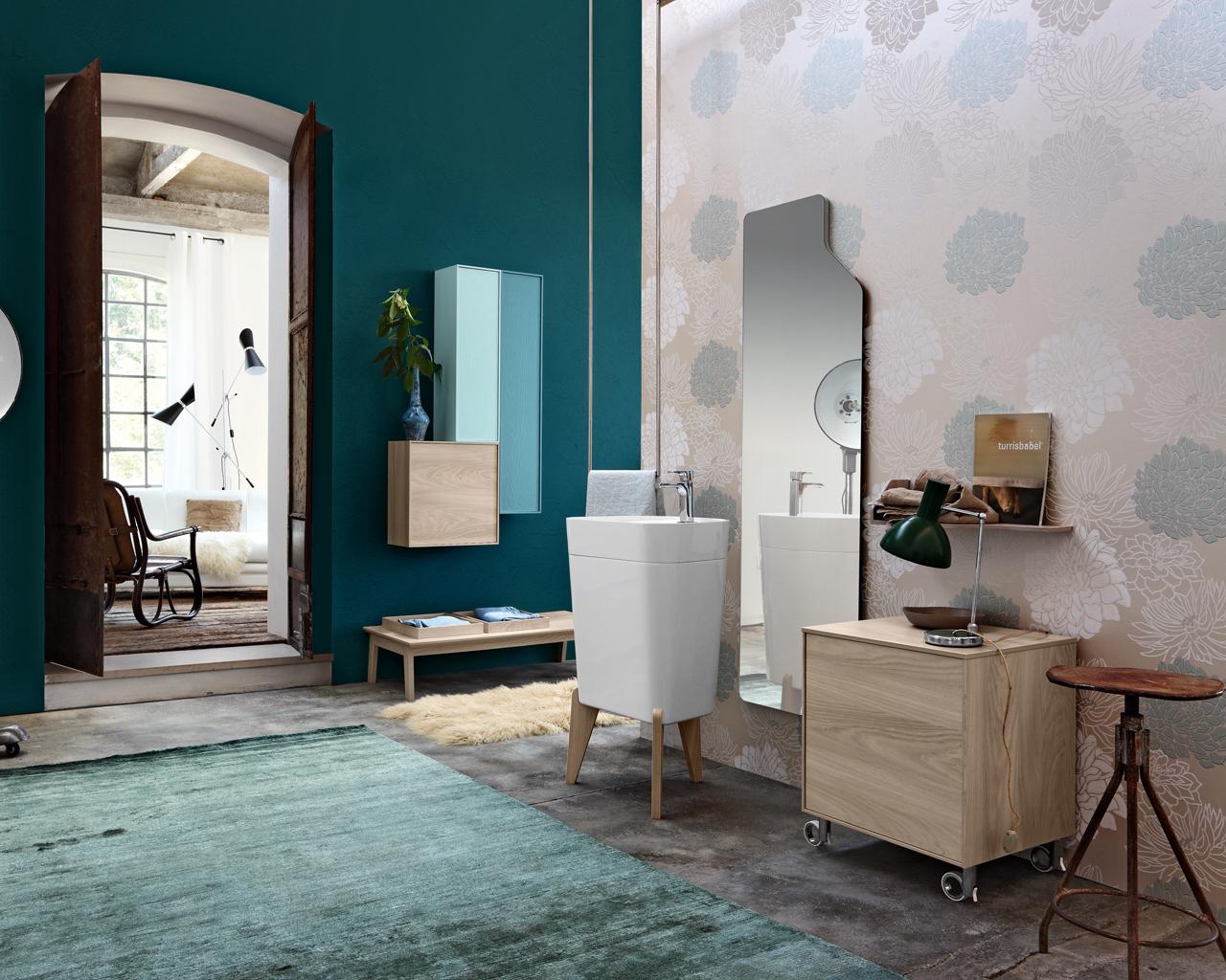 Una stanza da bagno vintage in stile anni 50 - Stanza da bagno ...