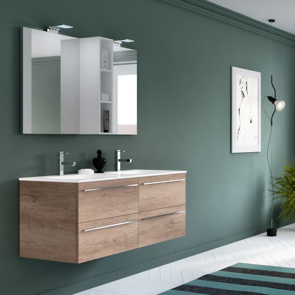 Change i mobili da bagno modulari dalle infinite composizioni - Mobile bagno doppio lavabo 140 ...