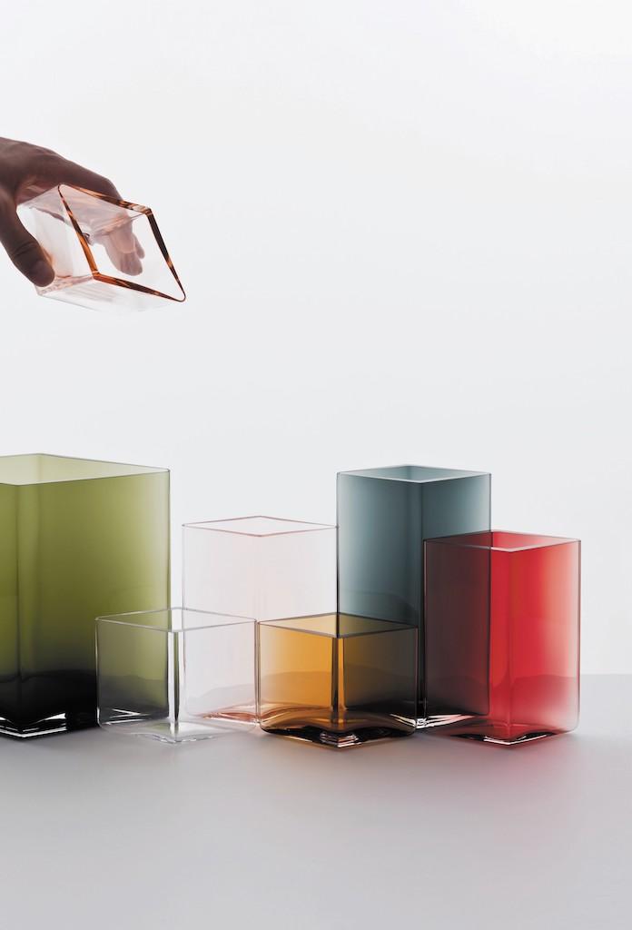 Ruutu glass vases. Bouroullec for iittala