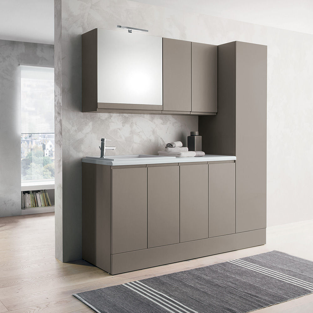 Come creare uno spazio lavanderia organizzato in casa - Mobile stiro mondo convenienza ...