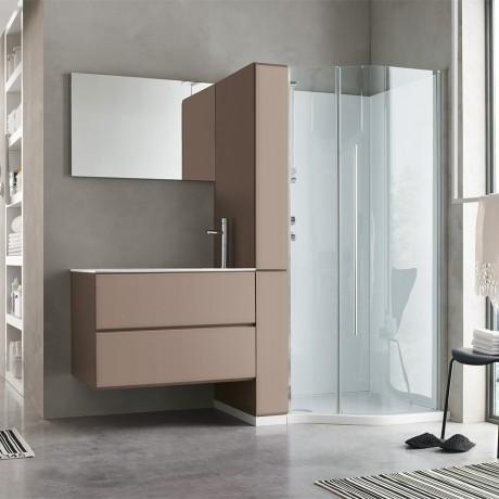 Come creare uno spazio lavanderia organizzato in casa - Mobile bagno asimmetrico ...