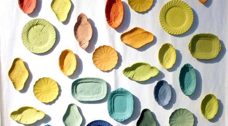 Piatti decorati come tessuti antichi - Piatti di frutta decorati ...
