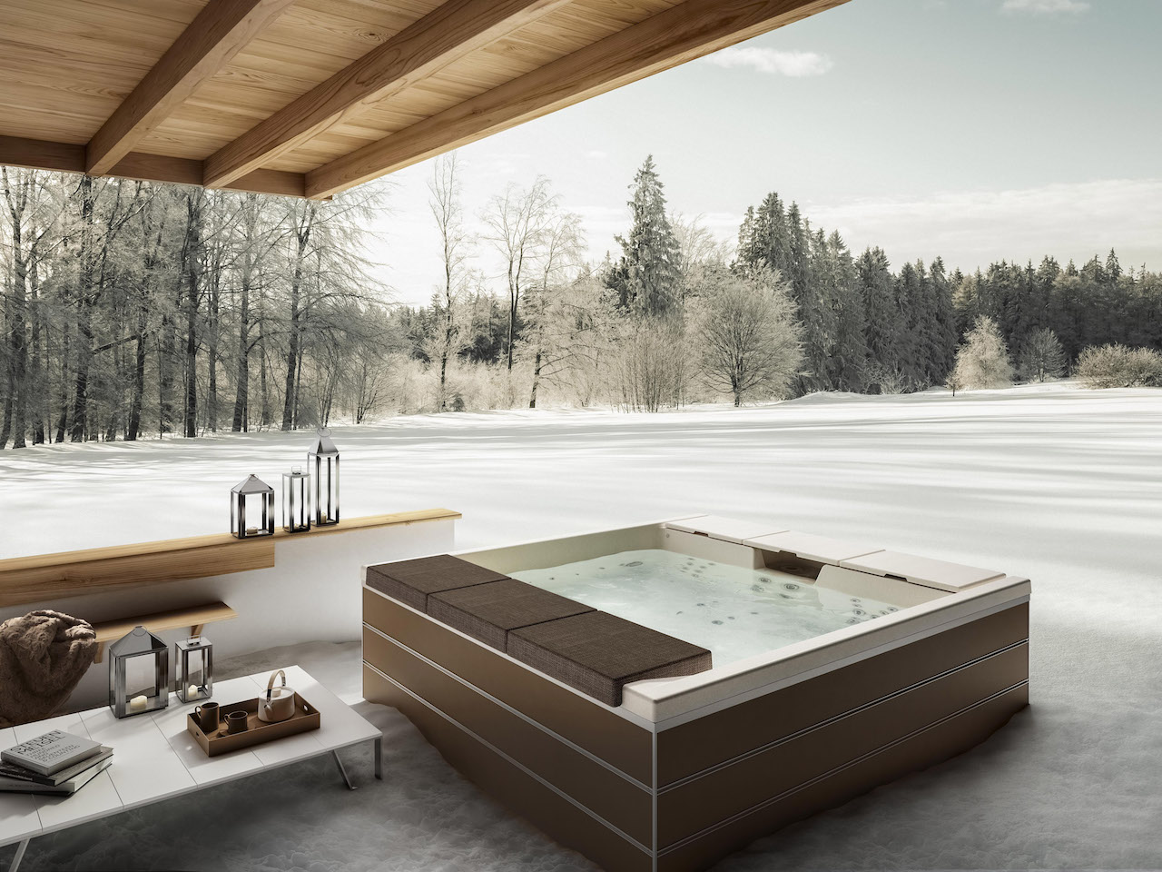 Una minipiscina per un bagno di relax anche in inverno for Se vende jacuzzi exterior