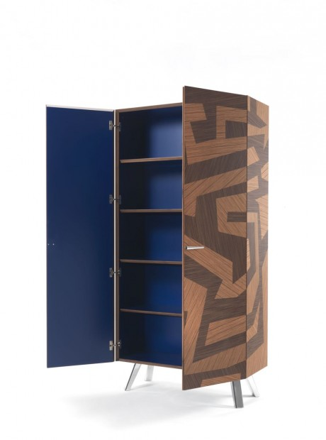 Are, showcase, la credenza intarsiata contemporanea