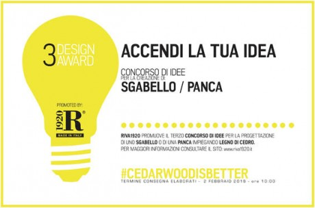 "Riva 1920: 3° Design Award ""Accendi la tua idea """