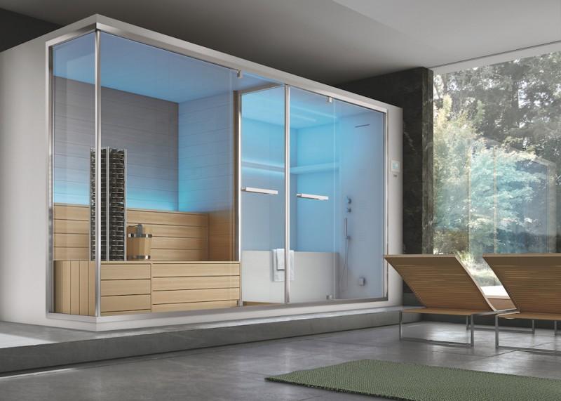 Una vera spa domestica con il sistema Olimpo di Hafro Geromin