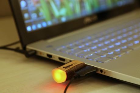 chiavetta USB in legno massello naturale