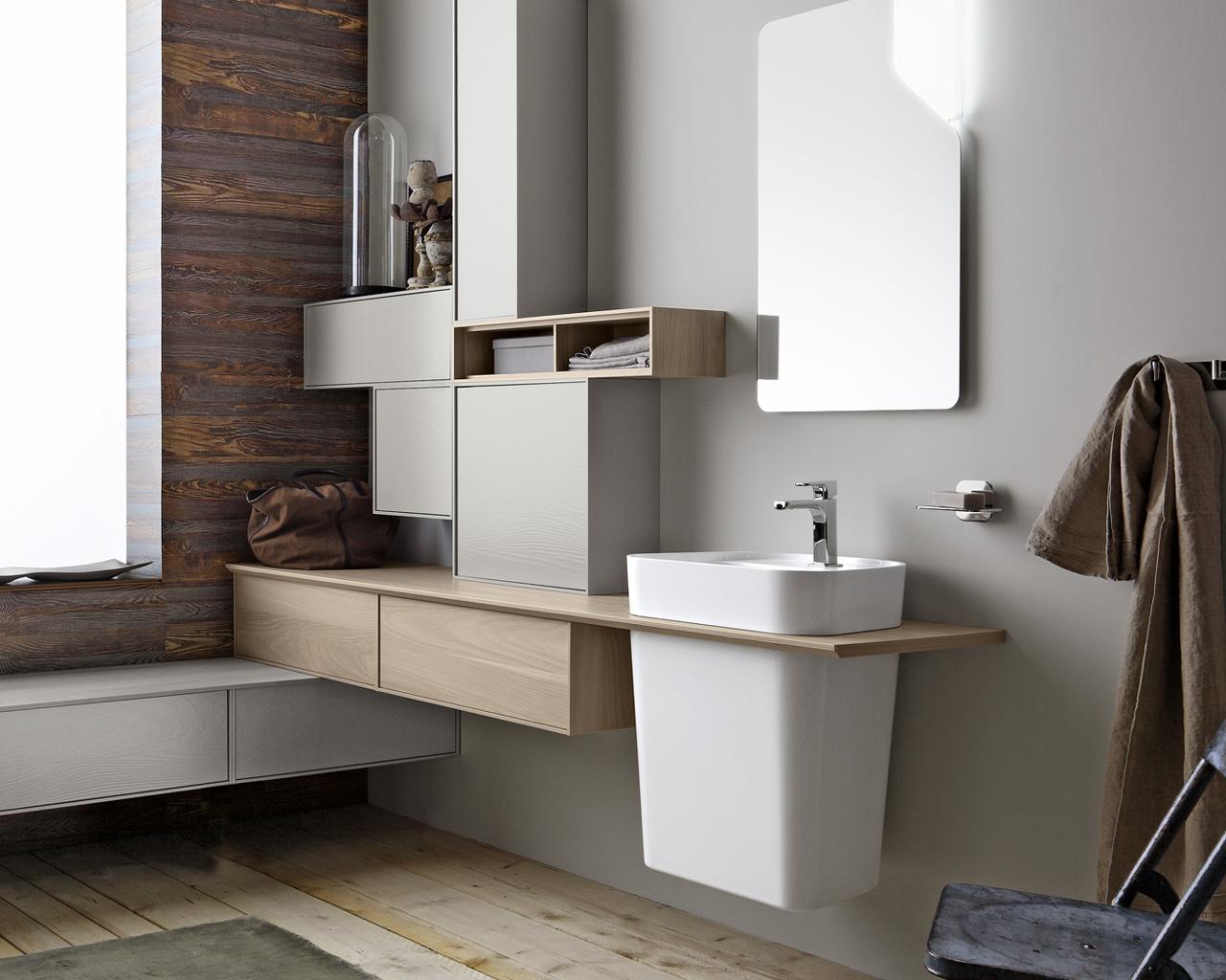 Atmosfere vintage e naturali per un bagno contemporaneo - Bagno contemporaneo ...