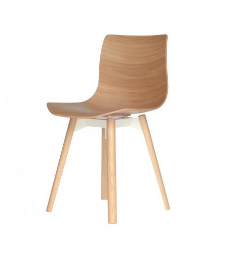 Loku, la sedia impiallacciata