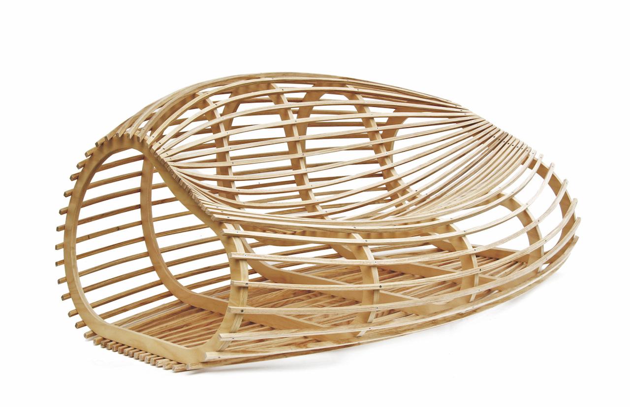 3 straordinarie panche di design in legno lamellare - Oggetti di design in legno ...