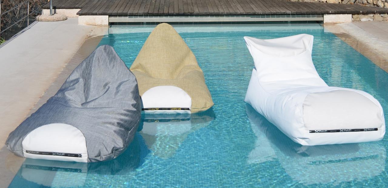 Inpool il pouf galleggiante per il mare o la piscina for Cuscini galleggianti piscina