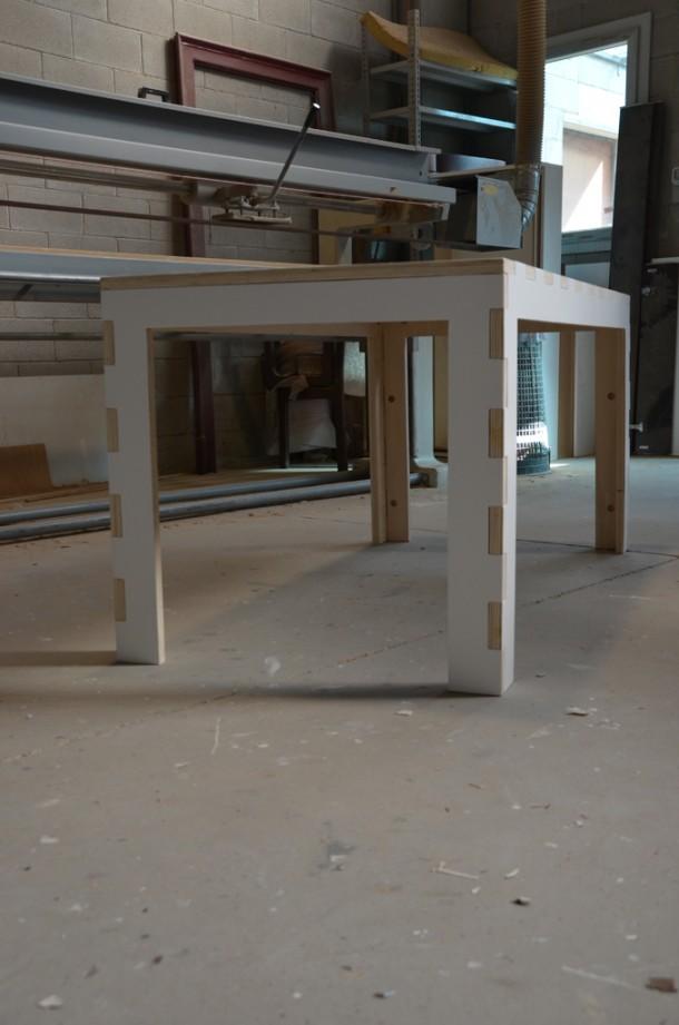 Il tavolo a incastro