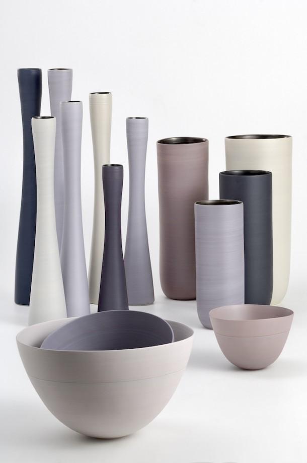 I vasi in ceramica di design dalle forme morbide e - Vasi da interno design ...