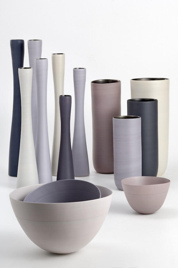 I vasi in ceramica di design dalle forme morbide e - Vasi ceramica esterno ...