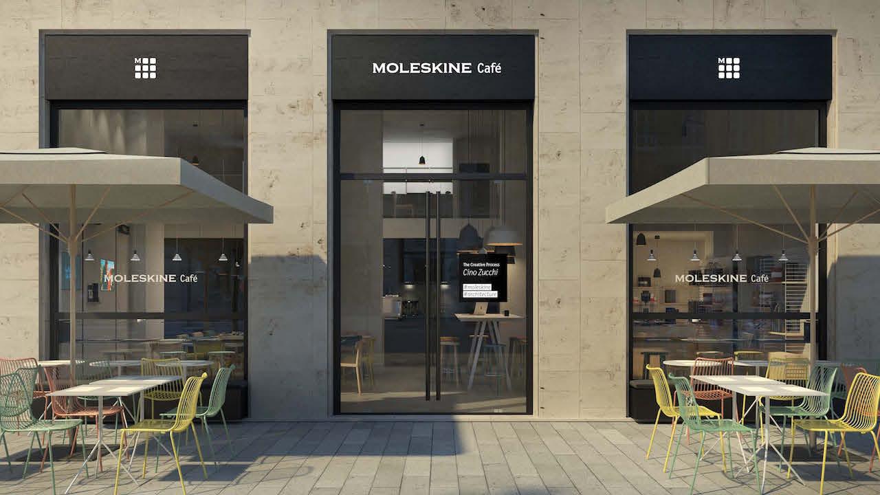 A milano apre il moleskine caf tra design libri e for Design milano